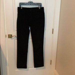NYDJ black stretch corduroy straight jeans